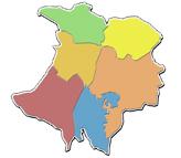 Dilbeek invulkaart deelgemeenten
